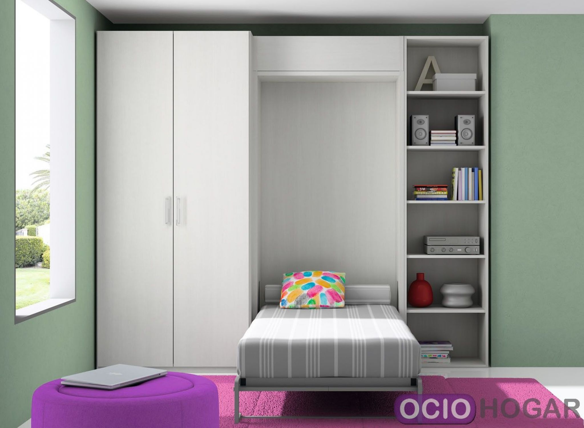 Dormitorio infantil closet de dissery muebles juveniles for Closet en madera para habitaciones