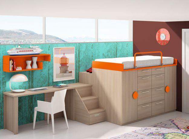 Dormitorio infantil Coral de Dissery