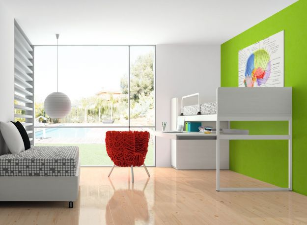Dormitorio juvenil Block de Dissery. Abierto