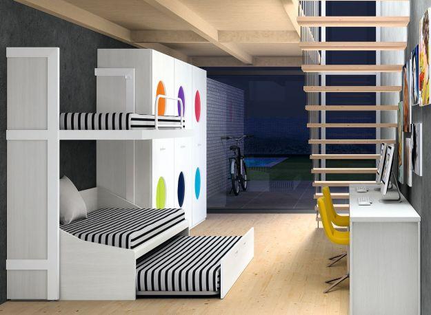 Dormitorio juvenil Nautilus de Dissery. Abierta