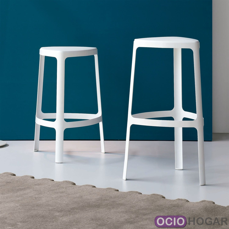 Taburete alto clip de bonaldo muebles de dise o en - Taburete alto cocina ...