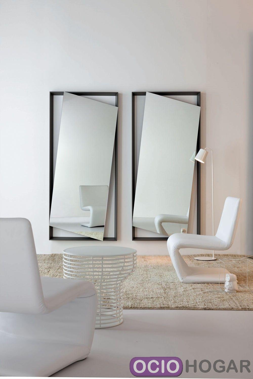 Espejo de dise o hang up de bonaldo complementos en for Espejos de diseno para entradas