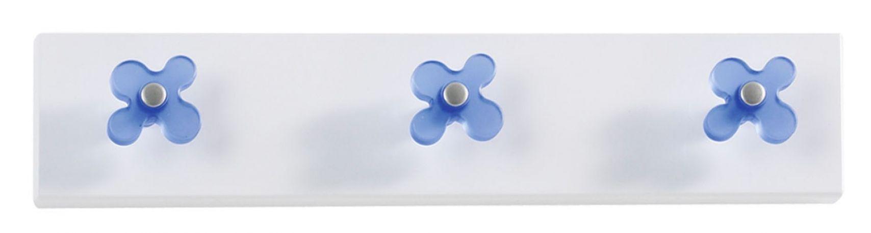 Perchero de pared Flor de Dissery. Azul