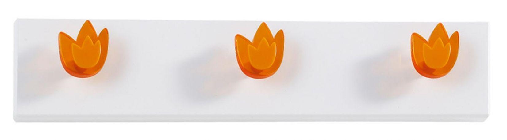 Perchero de pared Tulipanes de Dissery. Naranja