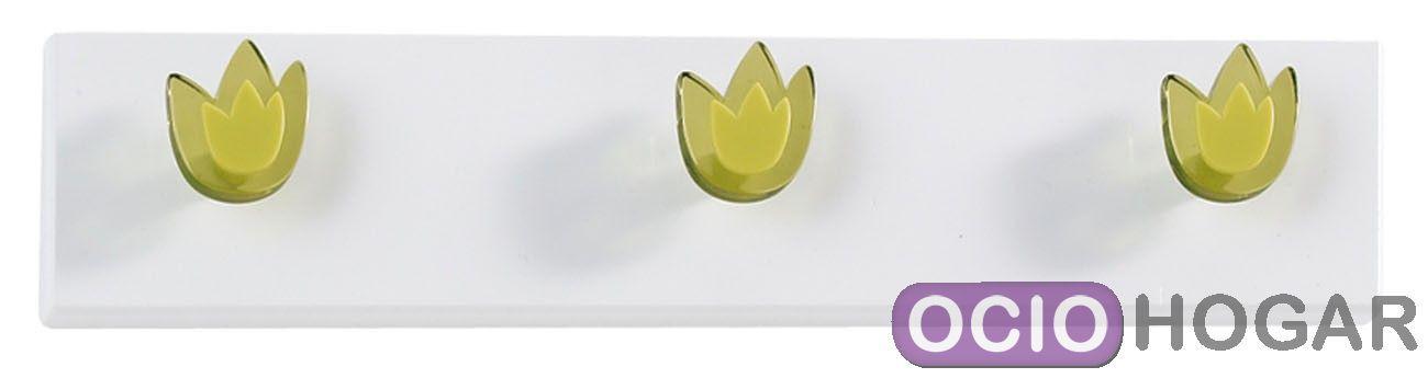 Perchero de pared tulipanes de dissery decoraci n en - Percheros pared decorativos ...