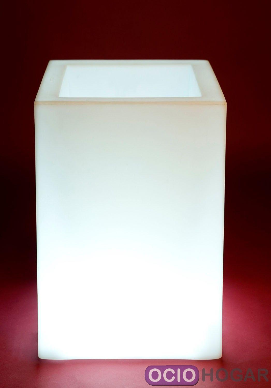Comprar maceta con luz cubo alto de vondom online - Macetas con luz baratas ...