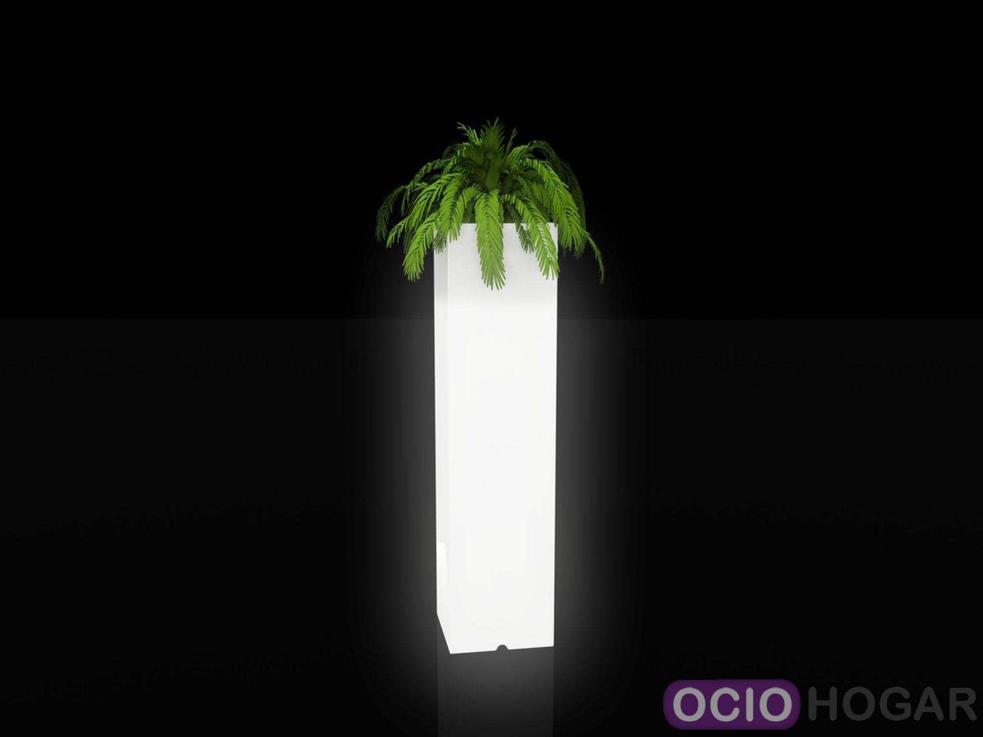 Maceta con luz torre cuadrada de vondom - Macetas con luz baratas ...