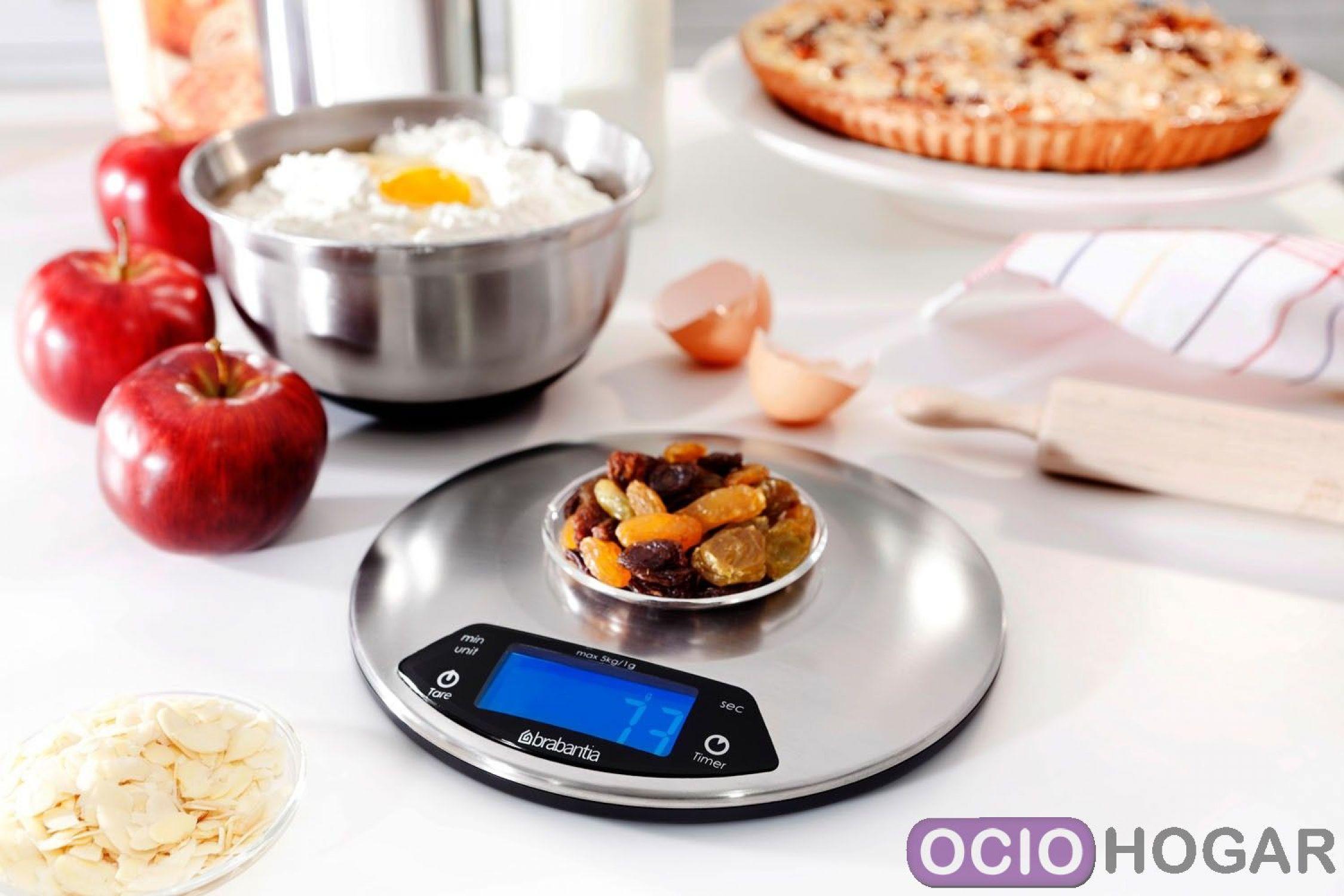B scula de cocina digital matt steel de brabantia for Basculas digitales para cocina