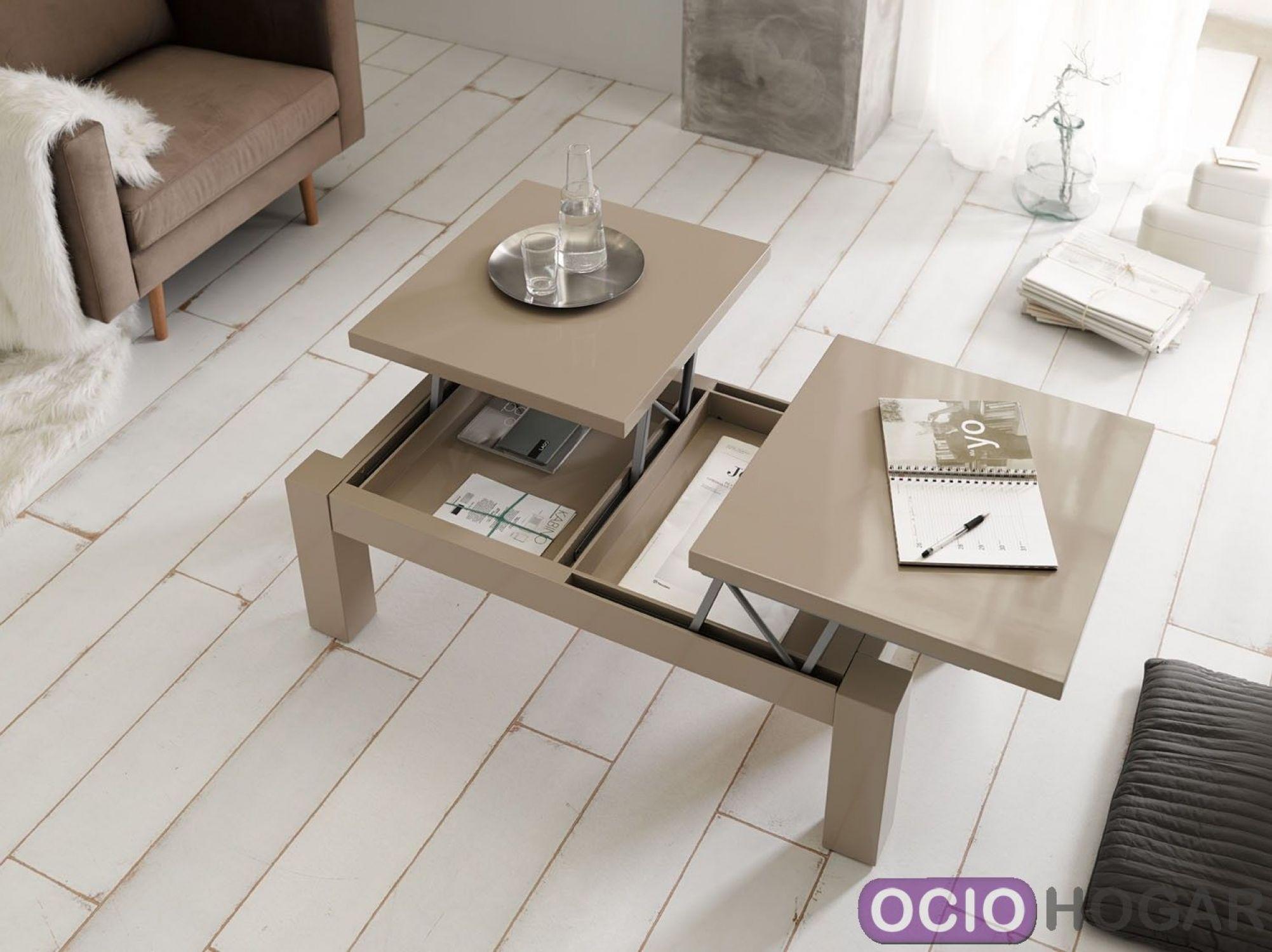 Mesa de centro elevable selene de dissery - Table basse avec tablette relevable ...