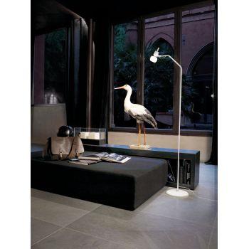 Lámpara de pie Vega de Vistosi. Color blanco