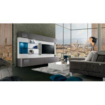 Teknicaa 910 para el salón, un mueble de TV con estanterías