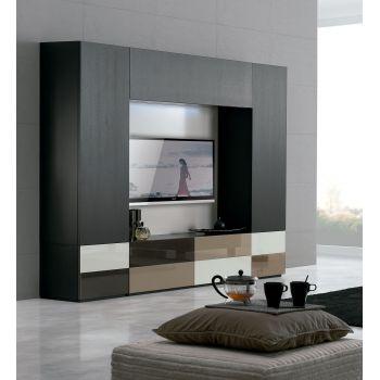 Mueble de televisión Temaa, un salón con detalles modernos