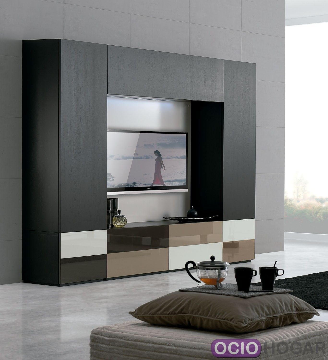 Mueble de tv temaa de clara home for Muebles salon modernos