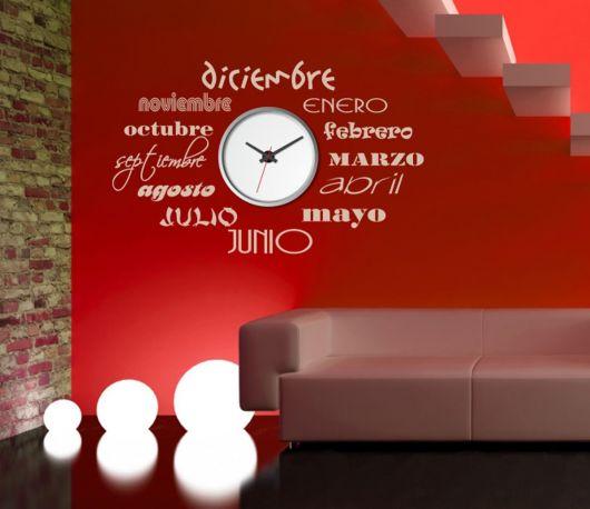 Vinilo decorativo Reloj Meses de DEKOTIPO