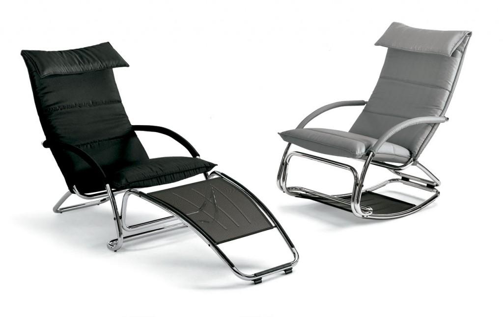 Butaca mecedora y chaiselongue de Bonaldo