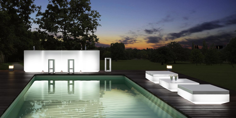 Vondom en hospitality design hd show las vegas - Decoracion piscinas exteriores ...