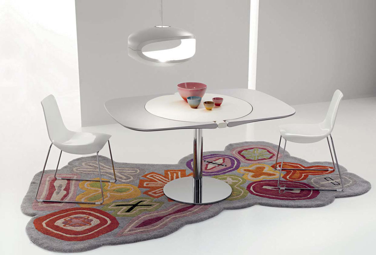 Casas cocinas mueble mesas redondas de cocina extensibles - Mesa de cocina redonda extensible ...