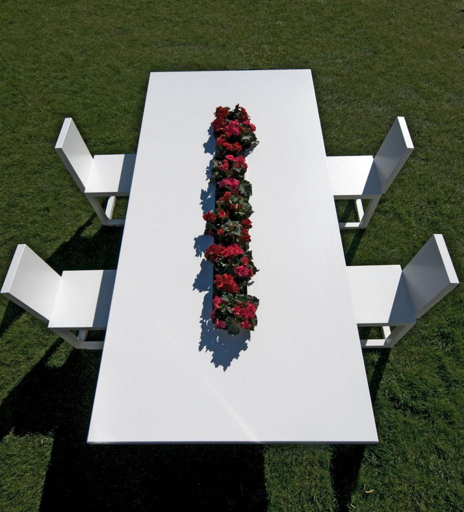 Mesa de comedor Canopo con jardinera