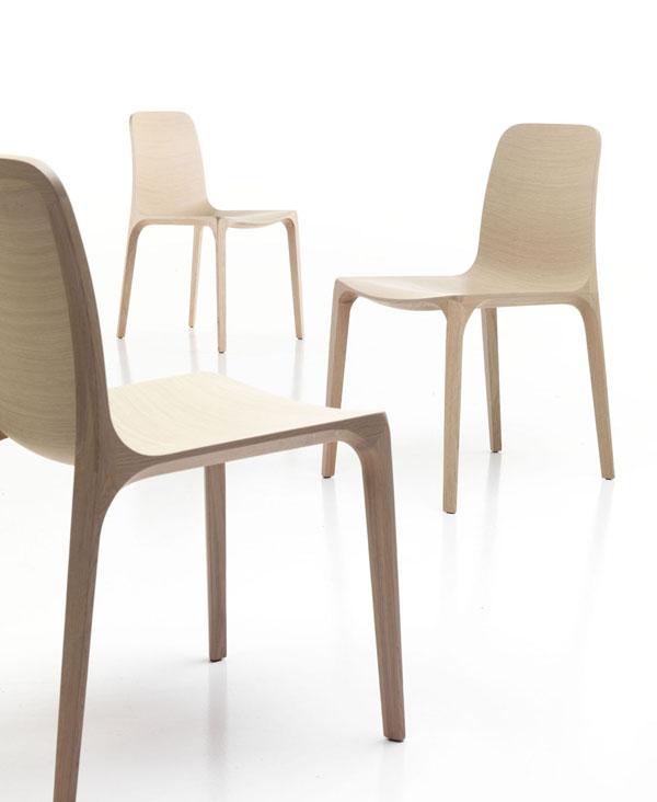 Sillas de madera para el comedor de estilo moderno for Comedor 10 sillas