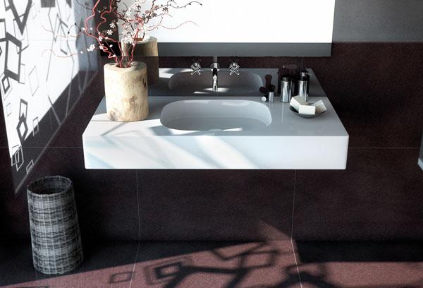 Lavabo de ba o con encimera silestone by cosentino - Encimeras lavabos bano ...