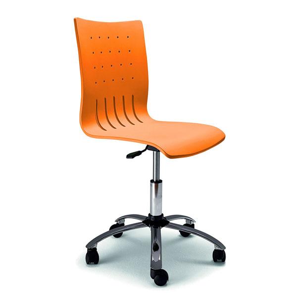 Decoracion mueble sofa sillas ordenador baratas for Sillas naranjas baratas