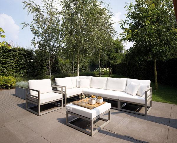 Sofá y mesa de jardín Francia Majestic Garden