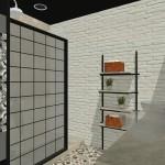Proyecto industrial étnico baño