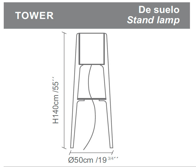 Diagrama lámpara de pie Tower de Almerich
