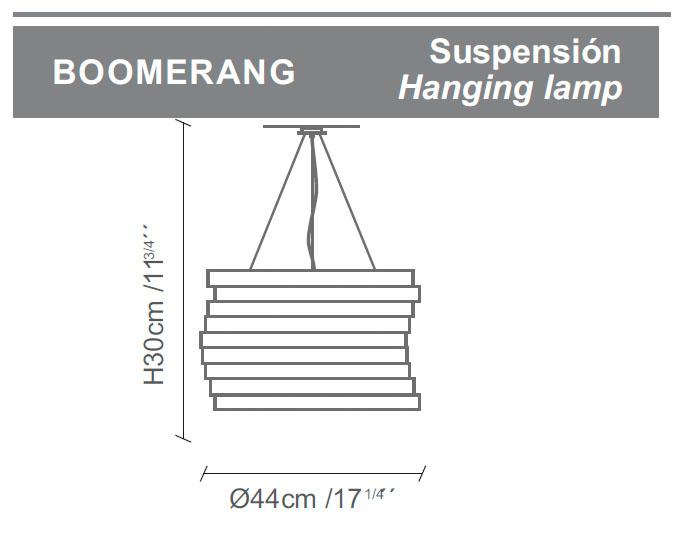 Diagrama lámpara de techo Boomerang de Almerich
