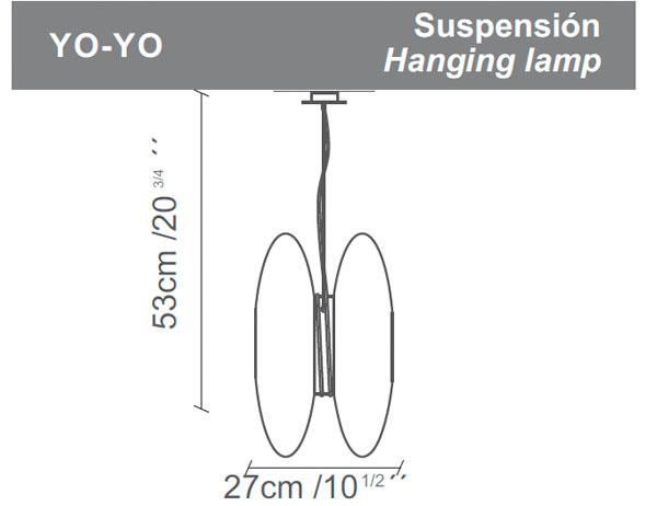 Diagrama lámpara de techo Yo-Yo de Almerich