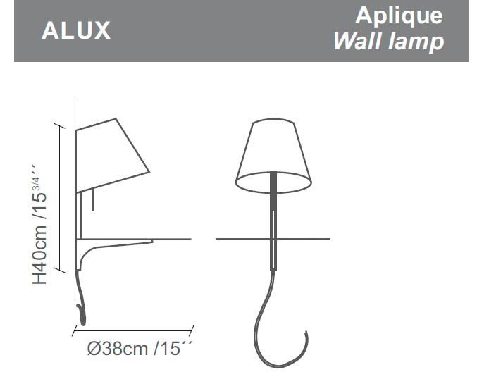 Diagrama aplique de pared Alux de Almerich