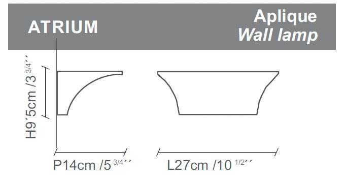 Diagrama aplique de pared Atrium de Almerich