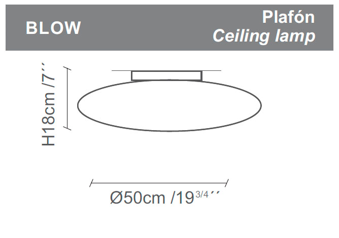 Diagrama aplique de pared Blow de Almerich