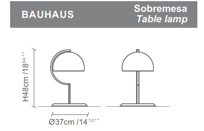 Diagrama lámpara de mesa Bauhaus de Almerich