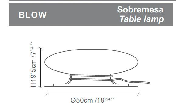 Diagrama lámpara de mesa Blow de Almerich