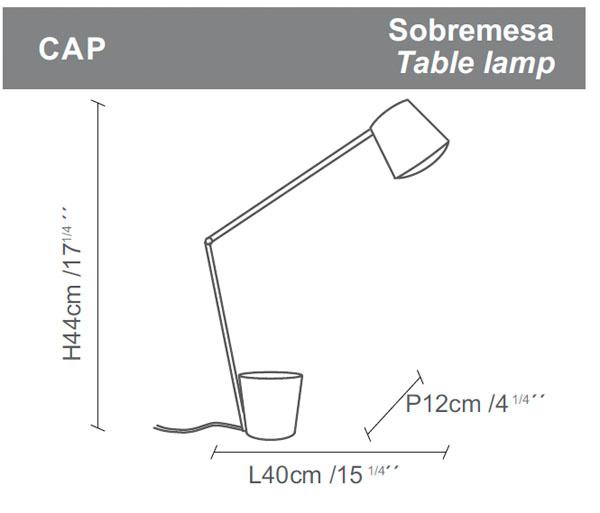 Diagrama lámpara de mesa Cap de Almerich
