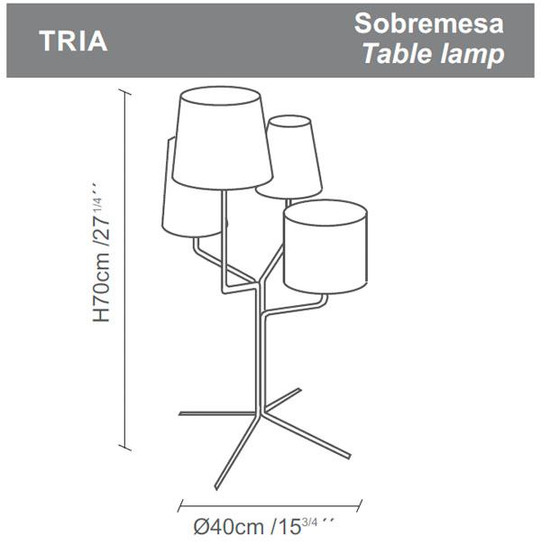 Diagrama lámpara de mesa Tria de Almerich