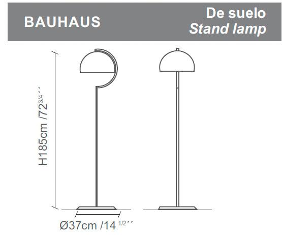 Diagrama lámpara de pie Bauhaus de Almerich