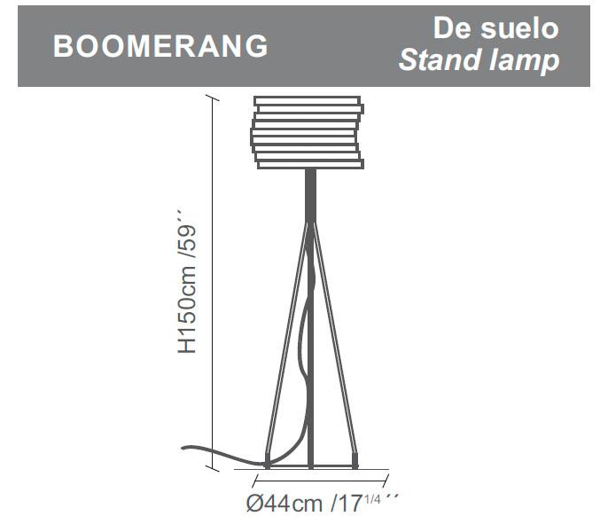 Diagrama lámpara de pie Boomerang de Almerich