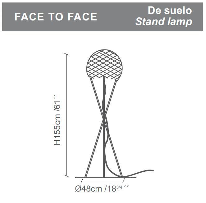 Diagrama lámpara de pie Face to Face de Almerich