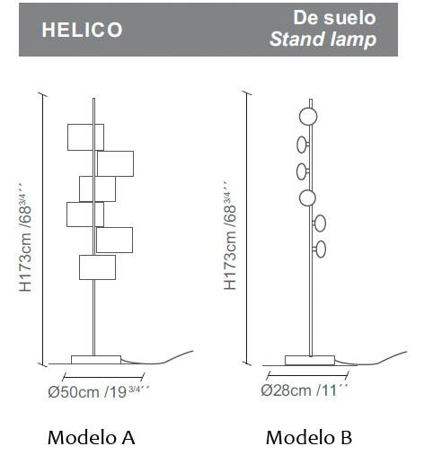 Diagrama lámpara de pie Helico de Almerich