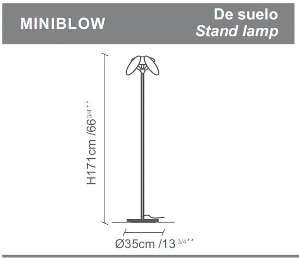 Diagrama lámpara de pie Miniblow de Almerich