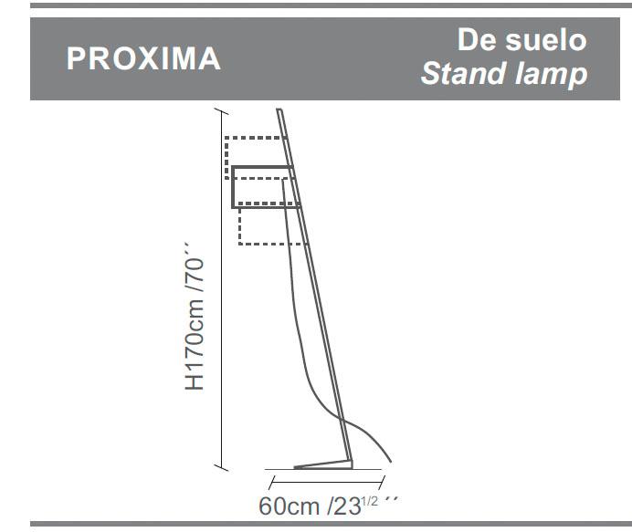 Diagrama lámpara de pie Próxima de Almerich