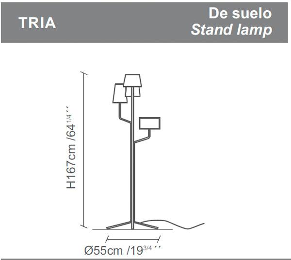 Diagrama lámpara de pie Tria de Almerich
