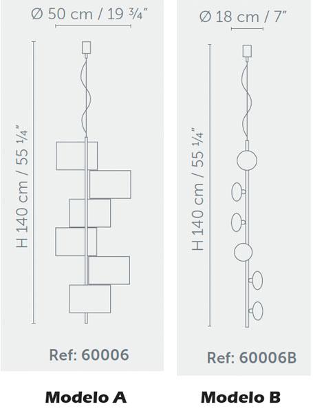 Diagrama lámpara de techo Helico de Almerich