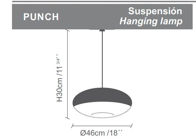 Diagrama lámpara de techo Punch de Almerich