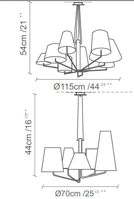 Diagrama lámpara de techo Tria de Almerich