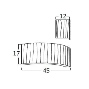 Diagrama aplique de pared Curvas CV06 de Arturo Álvarez