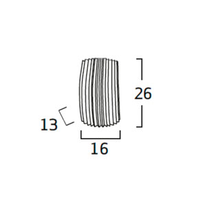 Diagrama aplique de pared Gea GE06 de Arturo Álvarez