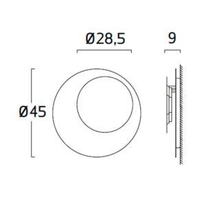 Diagrama aplique de pared Guau GU06 de Arturo Álvarez